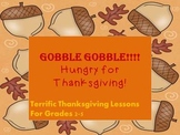 Bundle Thanksgiving Common Core aligned Math and Literacy