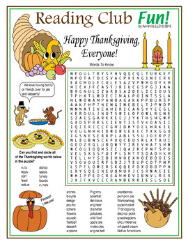 Bundle: Thanksgiving Two-Page Activity Set and Puzzle