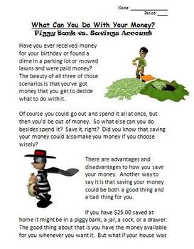 Bundle - The Economics of Check Writing & The Economics of Saving Your Money