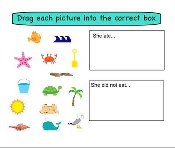 Bundle: There Was An Old Lady Who Swallowed a.... SMART board activities