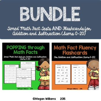 Timed Math Fact Fluency Tests and Flashcards for Addition