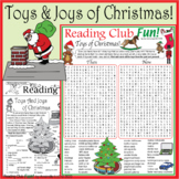 Bundle: Toys and Joys of Christmas Two-Page Activity Set and Word Search Puzzle