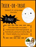 Bundle! Trick-or-treat Speech & Language Handouts