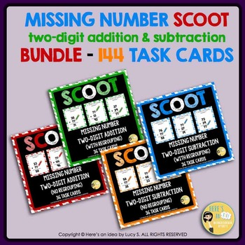 Two-digit missing number SCOOT addition & subtraction - 14
