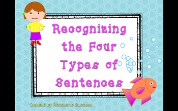 Keynote + Assessment for Four Types Sentences Bundle