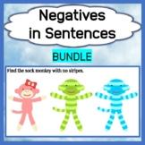 Negatives in Sentences - Bundle