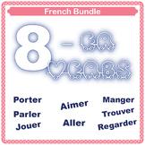 Bundle: Unscramble french sentences using -er verbs!