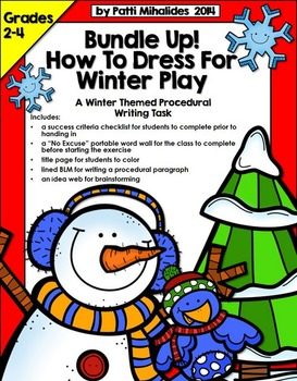 Bundle Up: A winter procedural writing activity for Grades 2-4