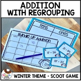 Winter Addition with Regrouping Scoot Game Task Cards