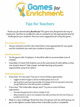 Bundle Up!: Engage NY / Eureka Math Bundling Skills Game for 1st and 2nd Grades