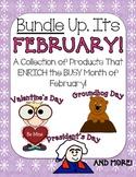 Bundle Up, It's February! {Groundhog Day, Valentine's Day & President's Day}