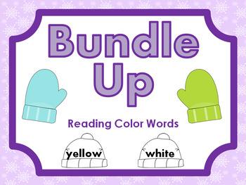 Bundle Up • Reading Color Words • File Folder Game