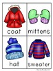 Bundle Up! Winter Clothing Write / Stamp the Room Activity Pack