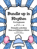 Music Worksheets: Music Math Rhythm {Hats and Mittens}