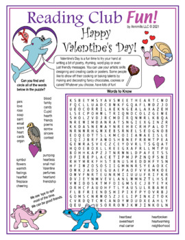 Bundle: Valentine's Day / Friendship Two-Page Activity Set, Word Search, Cards