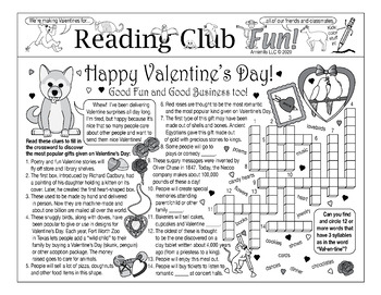Bundle: Valentine's Day Two-Page Activity Set and Color-In Puzzle