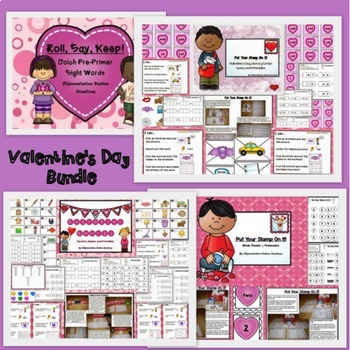 Bundle! Valentines Math and Literacy