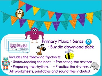 Bundle Value Pack - Primary Music 1 Series, Beat and Rhythm in Music