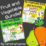 Vegetables and Fruit Center Books and Activities BUNDLE