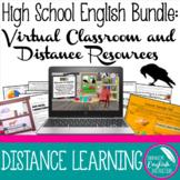 High School English Bundle Virtual Classroom and Distance