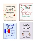 Vocabulary Activities Bundle: Fun with Spanish, Italian, French, and Latin