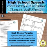 WINTER High School Speech Therapy  Vocabulary and Grammar Skill Sheets Bundle
