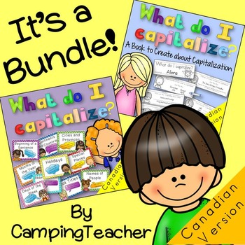 Capitalization Posters and A Book to Create BUNDLE {CANADI