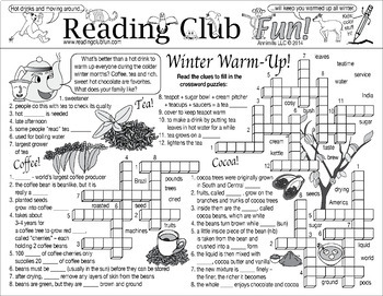 Bundle: Winter Beverages and Activities Two-Page Activity Set and Math Puzzle