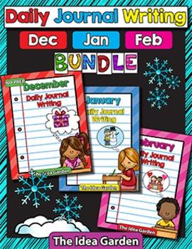 Winter Bundle - Daily Journal Writing - NO PREP (Dec/Jan/Feb)