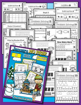 Winter Bundle - NO PREP Math & Literacy (Kindergarten) - Dec/Jan/Feb