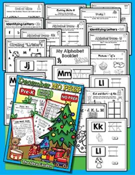Winter Bundle - NO PREP Math & Literacy (Pre-K) - Dec/Jan/Feb
