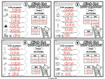 """Word Ladders Bundle ~ Short Vowels and Magic """"e"""""""
