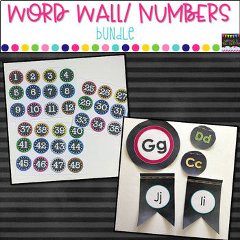 Word Wall Headers and Numbers Bundle