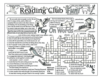 Bundle: Wordplay Two-Page Activity Set and Crossword Puzzle