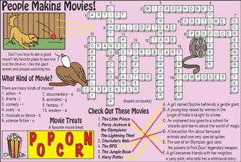 Bundle: Work (Making Movies) and Careers Activity Set, Crossword & Word Search