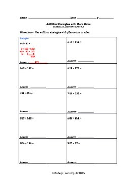 Bundle  Worksheets - Math 2nd grade - CCSS - Numbers & Operations in Base Ten