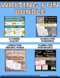 Bundle: Writing Fun: Cliches, Wordiness, Redundancy, Word Choice