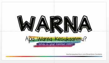 Bundle about WARNA (Colors in Indonesian)