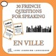 Bundle and Save: EN VILLE French Vocabulary Speaking Activities and Games 4-PACK