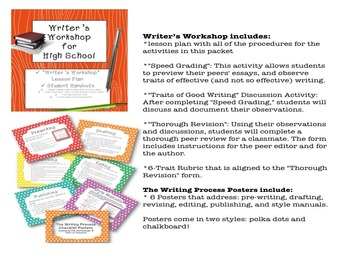 Bundle and Save! Writer's Workshop Materials and The Writing Process Posters