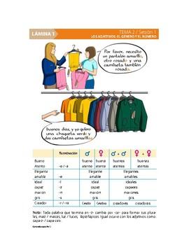Bundle de 6 Clases Listas de Español. Tema 2