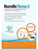 Bundle de 6 Clases Listas de Español. Tema 3