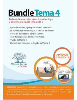 Bundle de 7 Clases Listas de Español. Tema 4