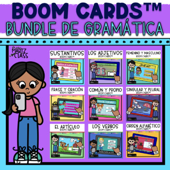 Bundle de Gramática Boom Cards™ Grammar in Spanish
