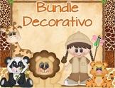 Bundle decorativo Motivo: Animales de la Selva