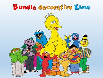 Bundle decorativo Motivo Elmo y sus amigos
