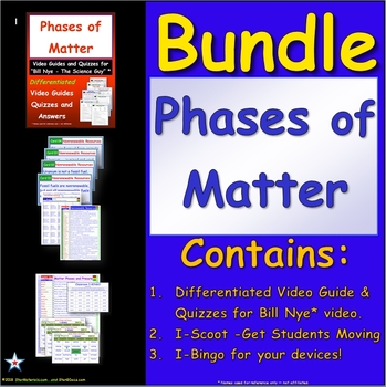 Bundle For Bill Nye Phases Of Matter Elementary Lessons By Star
