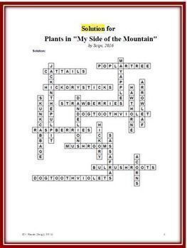 My Side of the Mountain Bundle: Two Different Crosswords; Two Word Searches