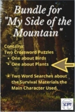Bundle for My Side of the Mountain - Two Crosswords and Tw