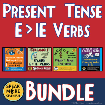 Stem Changing Verbs Comic Strip Worksheets & Teaching